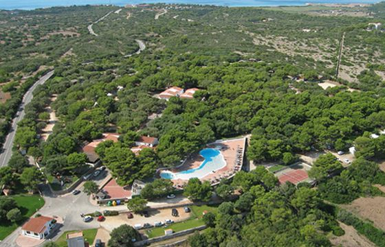 View camping in Menorca