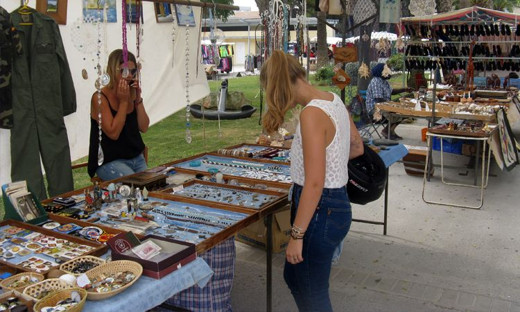 Shopping for jewellery in Mahon market