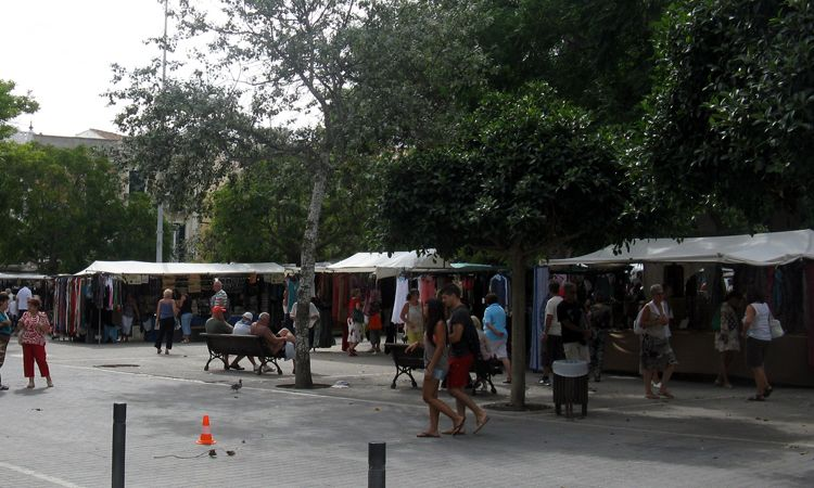 Menorca market situated in the main squire